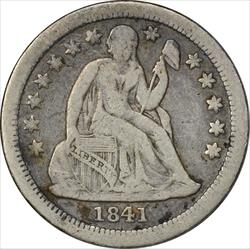 1841-O Liberty Seated Silver Dime VF Uncertified