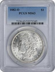 1882-O Morgan Silver Dollar MS63 PCGS