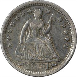 1854-O Liberty Seated Half Dime Arrows EF Uncertified