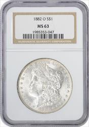 1882-O Morgan Silver Dollar MS63 NGC