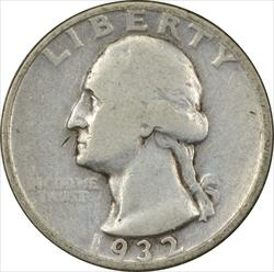 1932-D Washington Quarter VG Uncertified