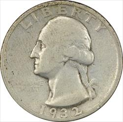 1932-S Washington Quarter F Uncertified