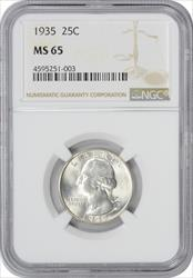 1935-P Washington Quarter MS65 NGC