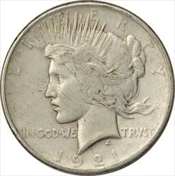 1921-P Peace Dollar VF Uncertified