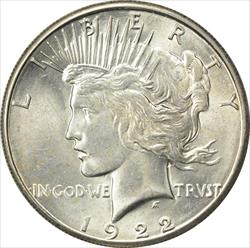 1922-S Peace Dollar MS63 Uncertified