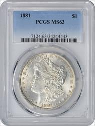 1881-P Morgan Silver Dollar MS63 PCGS