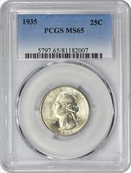 1935-P Washington Silver Quarter MS65 PCGS