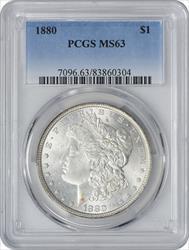 1880-P Morga Silver Dollar MS63 PCGS
