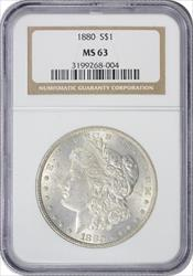 1880-P Morgan Silver Dollar MS63 NGC