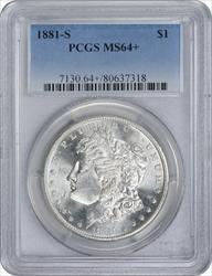 1881-S Morgan Silver Dollar MS64+ PCGS