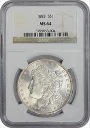 1883-P Morgan Silver Dollar MS64 NGC