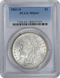 1883-O Morgan Silver Dollar MS64+ PCGS