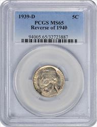 1939-D Jefferson Nickel Reverse of 1940 MS65 PCGS