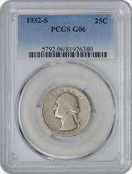 1932-S Washington Quarter G06 PCGS