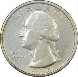 1934-D Washington Quarter AU Uncertified