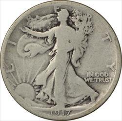 1917-S Walking Liberty Half Dollar Reverse VG Uncertified