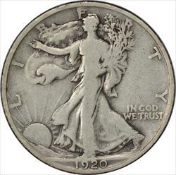 1920-P Walking Liberty Half Dollar F Uncertified