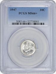 1947-P Roosevelt Dime MS66+ PCGS