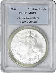 2004 $1 American Silver Eagle MS69 PCGS