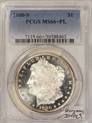 1880-S Morgan Dollar PCGS MS-66+PL;  Gorgeous, DMPL?