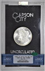 1882-CC GSA Morgan Dollar NGC and CAC MS-63 In Black Box With Card VAM-2E, R-7 Ultra-Rare! WOW!