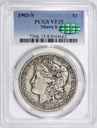 1903-S Micro S Morgan Dollar PCGS and CAC VF-35; VAM-2