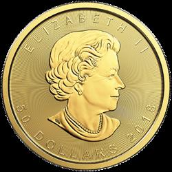 2018 1 OZ GOLD CANADIAN MAPLE LEAF