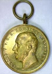 "1866 Hannover Battle of Langensalza 35mm Service Medal; ""B. LECKER""; Flashy Unc."