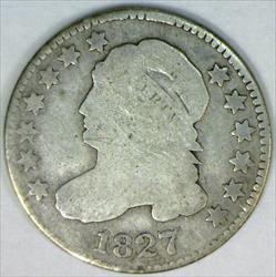 1827 Bust Dime; G-VG; JR-3