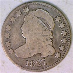 1827 Capped Bust Dime; Nice Original VG
