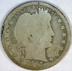 1897-S Barber Quarter; G