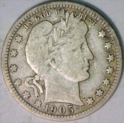 1905-O Barber Quarter; F