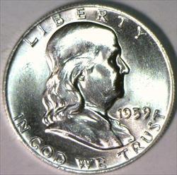 1959 Franklin Half Dollar; Gem BU