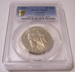 Austria Silver 1960 25 Schilling Plebiscite Proof PR66 PCGS