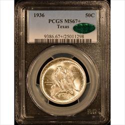 1936 50C Texas PCGS MS67+ CAC