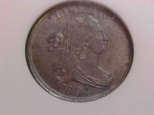Half Cents Draped Bust C10 CROSSLET 4 STEMS NGC MS63BN