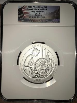2019-P Lowell Historical Park ATB 5 Oz Silver
