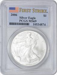 2006 $1 American Silver Eagle MS69 First Strike PCGS