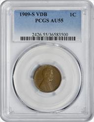 1909-S VDB Lincoln Cent AU55 PCGS