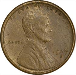1909-S VDB Lincoln Cent AU Uncertified