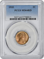 1910-P Lincoln Cent MS64RD PCGS