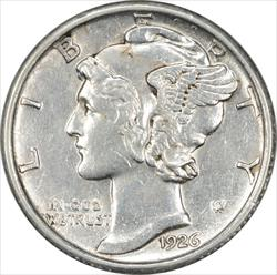 1926-S Mercury Dime AU Uncertified