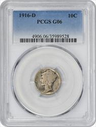 1916-D Mercury Dime G06 PCGS