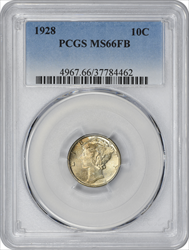 1928-P Mercury Dime MS66FB PCGS