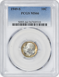 1949-S Roosevelt Dime MS66 PCGS