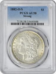 1882-O/S Morgan Dollar Strong AU58 PCGS