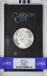 1882-CC Morgan Silver Dollar MS64+ NGC GSA Holder