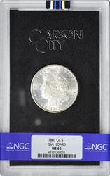 1881-CC Morgan Silver Dollar MS65 NGC GSA Holder