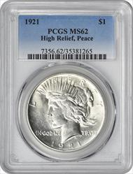 1921-P Peace Dollar MS62 PCGS