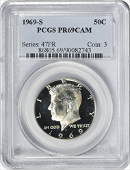 1969-S Kennedy Half Dollar PR69CAM PCGS